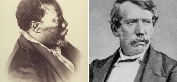 The African chief converted to Christianity by Dr Livingstone