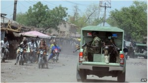 Nigerian troops have been trying to flush out militants from their strongholds