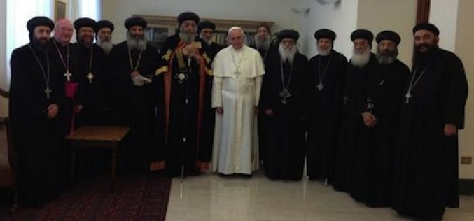 Coptic Pope stresses urgency of Christian unity at Vatican