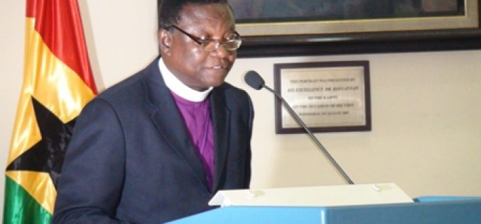 Bishop of methodist church ghana throws a challenge.