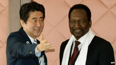 Shinzo Abe said Japan would help West African leaders tackle militant Islamists
