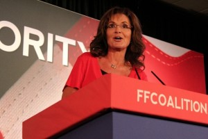 "(Photo: The Christian Post/Napp Nazworth) Former Alaska Governor Sarah Palin speaking at Faith & Freedom Coalition's ""Road to Majority 2013"" conference, June 15, 2013, Washington, D.C."