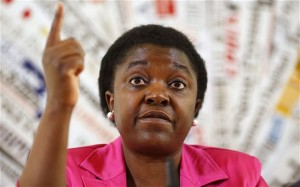 Cecile Kyenge, Italy's first black minister.