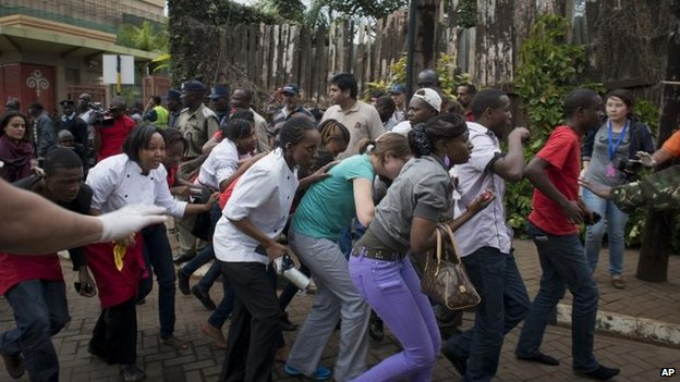Many of those who were inside the Westgate centre when the gun battle began managed to flee, but some were trapped.