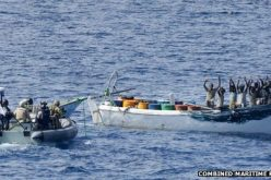 Suspected pirates caught in joint naval operation
