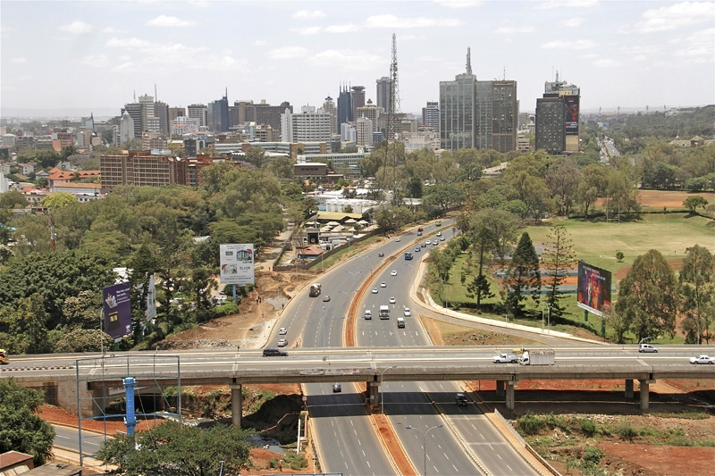 Nairobi's newly constructed Museum Hill Interchange. Chinese contractors have been involved in the building of major roads across the country