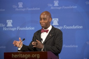 (Photo: The Heritage Foundation/Face to Face Photography)U.S. Senate Chaplain Barry Black speaking at The Heritage Foundation, Washington, D.C., April 29, 2013.