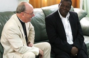 Bishop Christopher at the meeting with Archbishop Nicholas in Abuja Photo Credit: Nick Edmonds/Diocese of Guildford)
