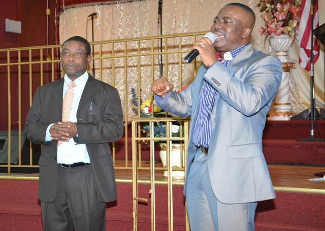 Rev. Leeford Boohene and Rev. Samuel Asiedu of Divine Favor Assembly of God