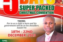 5 Days Super Packed Christmas Convention