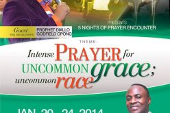 Intense Prayer for Uncomon Grace