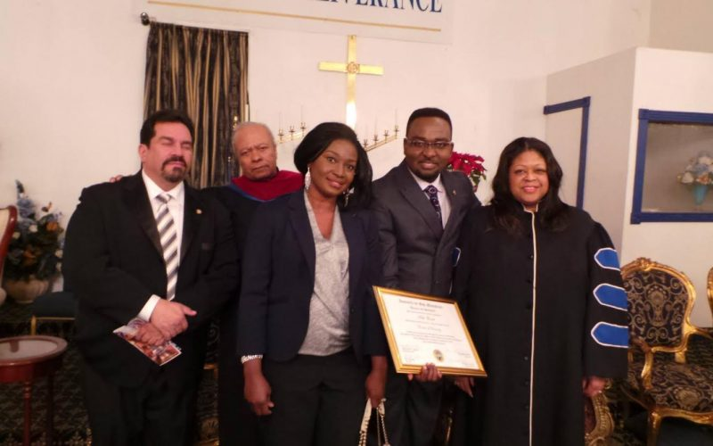 New York: Rev. Seth Baah Honored by The New York Regional Police