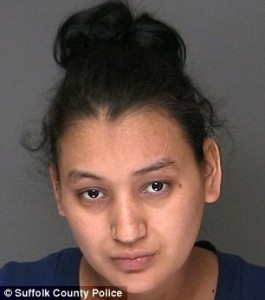 Accused killer: Would-be mother Santos Elena Ruiz Santos has been charged with second-degree murder