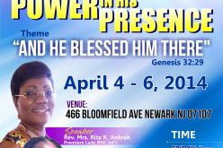 Power in his Presence
