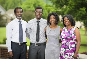 Ansah Ntow, Kofi Ansah, Afua Ansah, and Georgina Ntow at the Community Arts Center in Fairfield