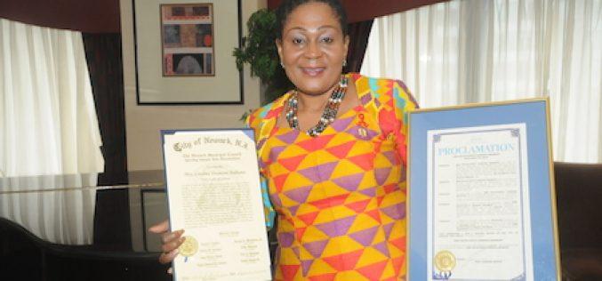 New Jersey: Ghana's First Lady Lordina Mahama honoured by City of Newark