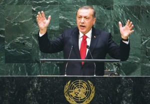 """The world is bigger than five,"" says Turkish President Recep Tayyip Erdogan."