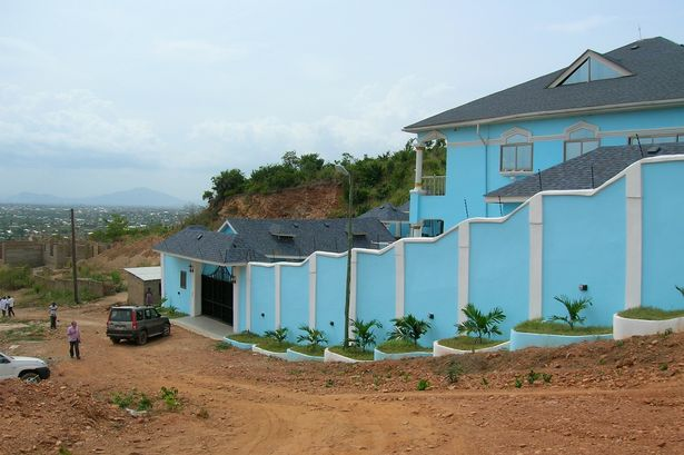 Fraud: The mansion near the Ghanaian capital of Accra where detectives tracked down Fadola