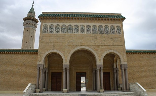 Portal Bourguiba Mosque in Monastir, Tunisia.