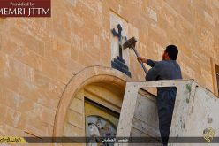 ISIS Militants Destroy Christian Crosses and Icons Inside Historic Iraqi Churches, Replace With Terrorist Black Flag