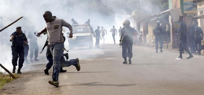 Protests in Burundi at president's renewed nomination