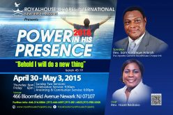 Power in his Presence 2015