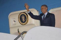 Obama lands in Jamaica in first US presidential visit since 1982