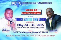 Week of Purely Prophetic
