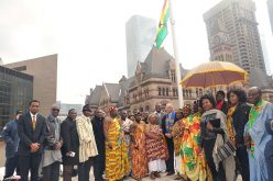 Canada: Ghana Flag raised at Toronto City Hall