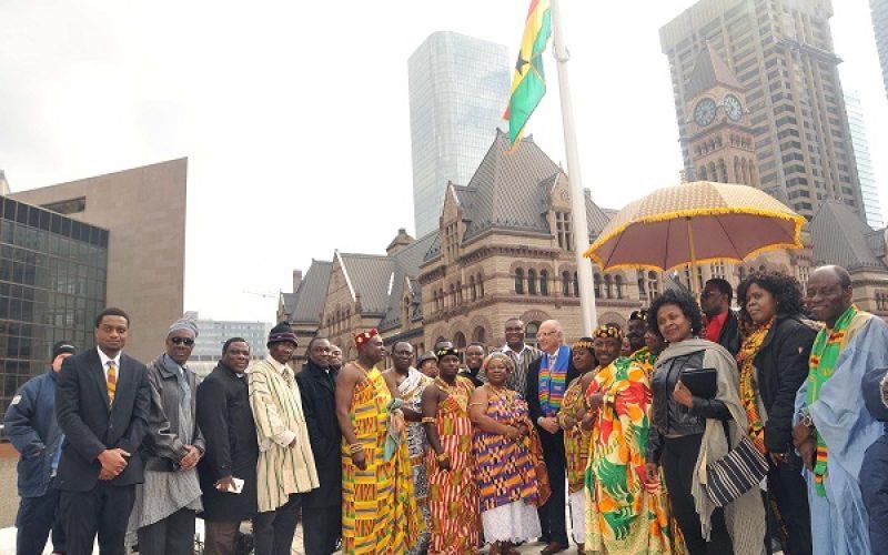 Canada: Ghana Flag raised at Toronto City Hall