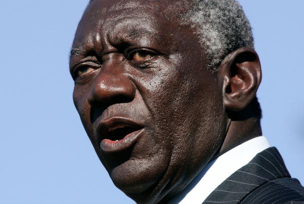The eldest son of former president of Ghana John Kufuor is said in leaked documents to have controlled a $75,000 bank account in Panama for his father and his mother that he ran through an offshore company (AFP Photo/Mujahid Safodien)