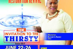 Holiness is the Lord Restoration Revival