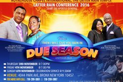 The Latter Rain Conference 2016