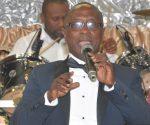 Rev Alexander Adugyamfi speaks during book launch
