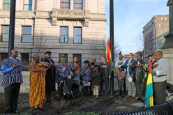 Ghana's flag flies in Worcester on Ghanaian independence day