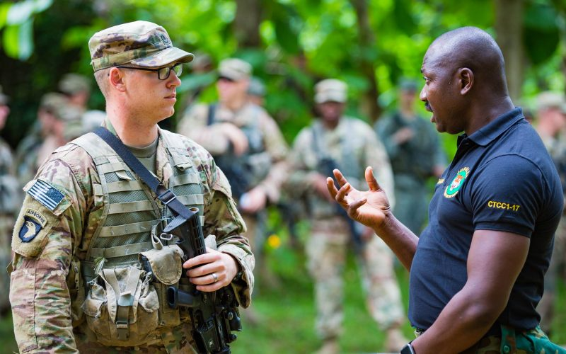US troops rumble in the jungle in Ghana exercise