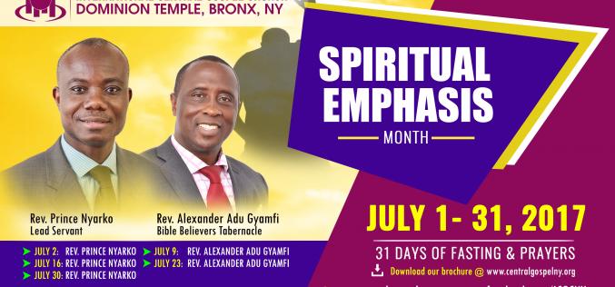 ICGC Dominion Temple | Spiritual Emphasis 2017