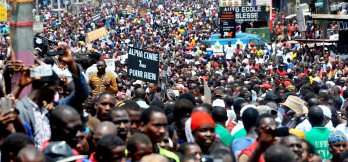 Thousands Protest Against Guinea's Conde Over Election Delays, Insecurity