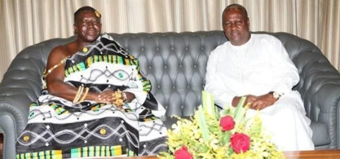 Mahama breaks silence on Asantehene's UN address