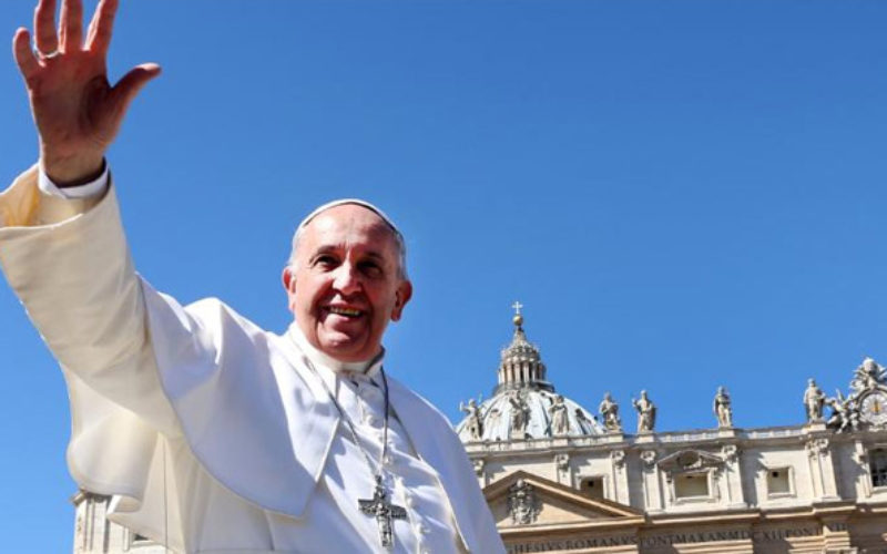 Pope Francis says, 'Do not be afraid, do not yield to fear'