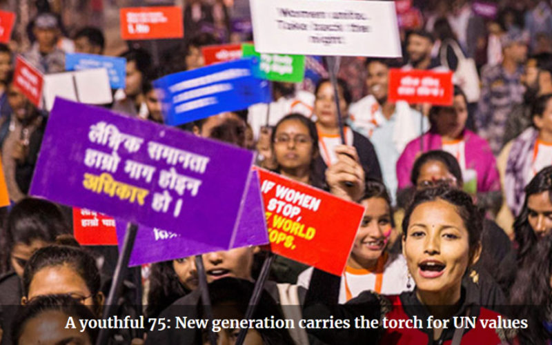A youthful 75: New generation carries the torch for UN values
